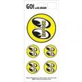 5 MOON Eyeball Stickers