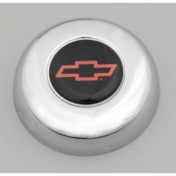 """Grant, Centrumkåpa till Classic Ratt, Chevrolet """"Bowtie""""-Logo, Röd/Svart"""