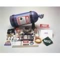 Lustgassystem, Super Powershot, Vått, 150hk, V8, Square Bore, 4-ports Förgasare
