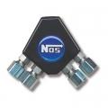 NOS Distributionsblock, Y-Typ, Svartanodiserad Aluminium