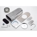 Hilborn Style Scoop, Polerad Aluminium för enkel förgasare