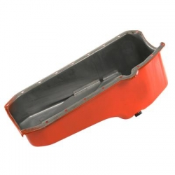 Oljetråg, Orangelackat Stål, Chevrolet Smallblock 1955-79