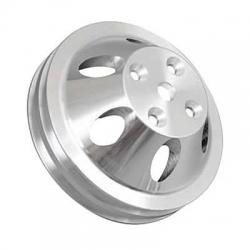 Remskiva Vattenpump, Aluminium, Dubbelspårig ,för Lång Pump, V-rem, Chevrolet Smallblock