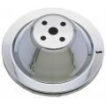 Remskiva Vattenpump, Chromat Stål, Enkelspårig, för Kort Pump, V-rem, Chevrolet Smallblock