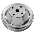 Remskiva Vattenpump, Chromat Stål, Enkelspårig, för Lång Pump, V-rem, Chevrolet Smallblock