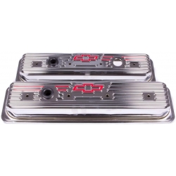 Proform Ventilkåpor, Chrome med Bowtie, Chevrolet Smallblock 1987 - 2002
