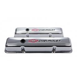 Proform Ventilkåpor, Chrome med Bowtie, Chevrolet Smallblock 1958 - 1986