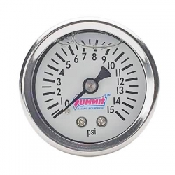 Summit Bränsletrycksmätare, 0 - 15 Psi, Vätskefylld