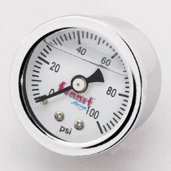 Summit, Bränsletrycksmätare, 0 - 100 Psi, Vätskefylld
