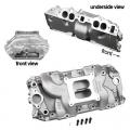 Weiand Aluminium Insug Stealth, Chevrolet Bigblock, Ovalport
