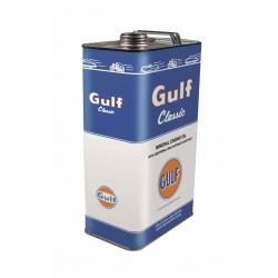 Gulf 20w-50 motorolja med zink , retro 5l plåtdunk